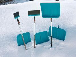 Лопата для снега 40 см с пластик кромкой (В наличии в Новосибирске)_2