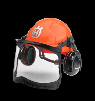 Шлем защитный Classic (вкомплекте защитная сетка-маска для лица, наушники, солнцезащитный козырек)
