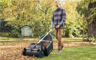 Механический собиратель травы и листьев