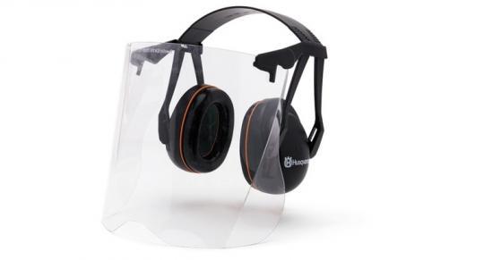 Hаушники защитные с прозрачной маской из плексигласа