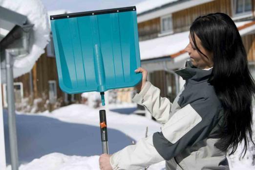 Лопата для снега 40 см с пластик кромкой (В наличии в Новосибирске)