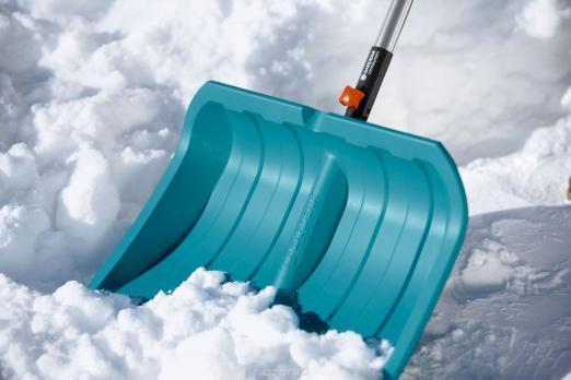 Лопата для снега 50 см с пластик кромкой (В наличии в Новосибирске)