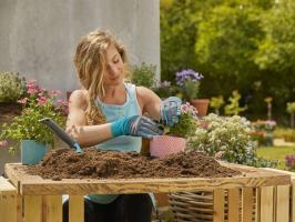 Перчатки садовые, размер 8 M Gardena_1