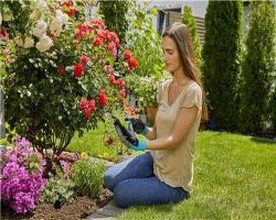 Перчатки садовые для работы с почвой, размер 9 L Gardena_2